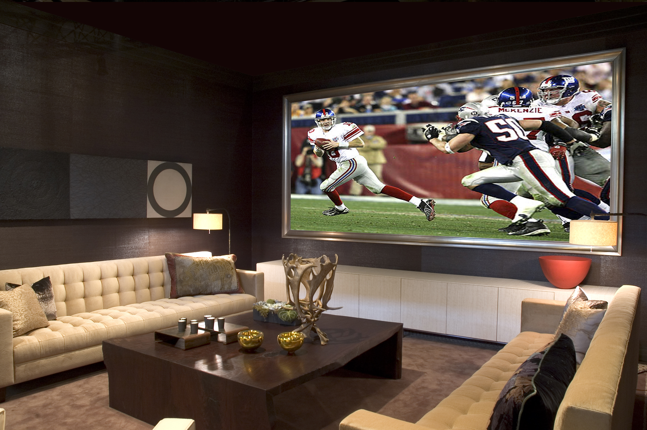 Media Room Decor Ideas Part - 49: College Bowl And Superbowl: Time For An Upgraded BIG Screen TV Or .